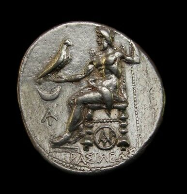 Seleukos I Nikator Tetradrachm. Alexander the Great lifetime Spectacular coin.