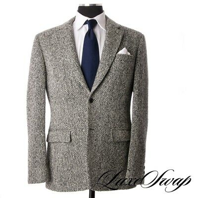 Mario Matteo Made in Italy Winter S/P Tweed Herringbone MODERN Chunky Jacket 52