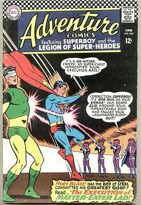 Adventure Comics #345-1966 fn Legion of Super-Heroes / Superboy