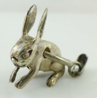 Vtg Bunny Rabbit Smooth 925 Sterling Silver Pendant
