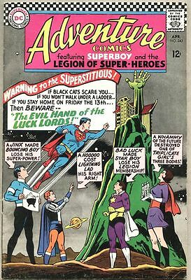 Adventure Comics #343-1966 fn+ Legion of Super-Heroes / Superboy