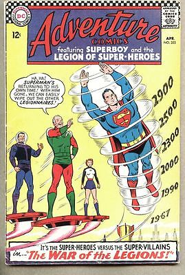 Adventure Comics #355-1967 fn Adult Legion of Super-Heroes / Superman
