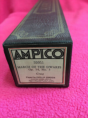 AMPICO piano roll 59951 greig MARCH OF THE DWARFS Op.54 No.3 PHILLIP GORDON