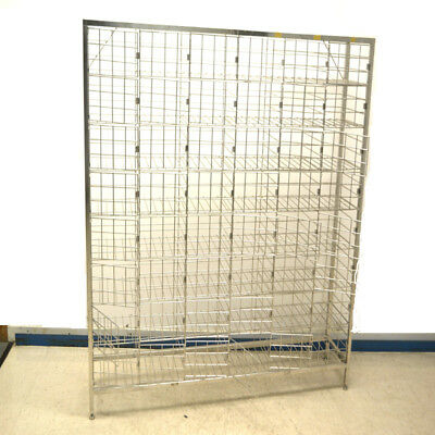 """Stainless Steel Clean Room 48-Unit Wire Mesh Cage Lockers 72"""" x 60"""" x 14"""""""