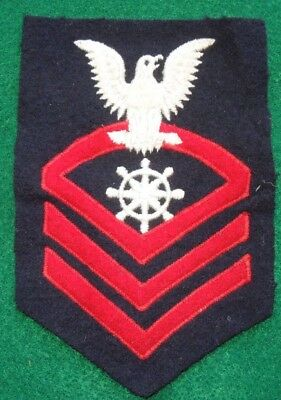 WWII US Navy Quartermaster Rate Patch Chief Petty Officer Original USN 1943