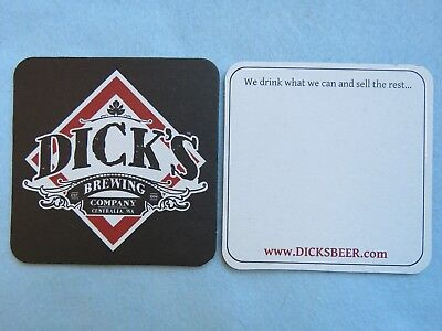 BEER Collectible STICKER ~ DICK/'s Brewing Co /& BBQ ~ Centralia WASHINGTON