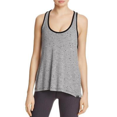 Koral Womens Ferocity Gray Knit Pattern Racerback Tank Top Shell L BHFO 4851