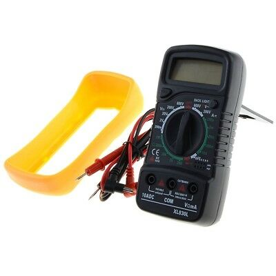 EXCEL Digital Multimeter XL830L Voltmeter Ammeter Ohmmeter Tester Yellow/Black