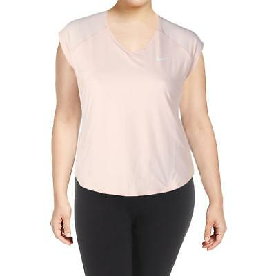 Nike Womens Pink Dri-Fit Signature Cap Sleeves Shirts & Tops XL BHFO 5829