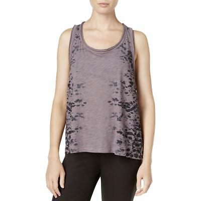 Gaiam Womens Purple Burnout Heather Printed Tank Top Shirt XL BHFO 4758