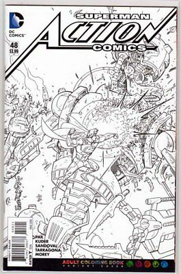 ACTION COMICS #48, COLORING BOOK VARIANT, New, First print, DC NEW 52 (2016)