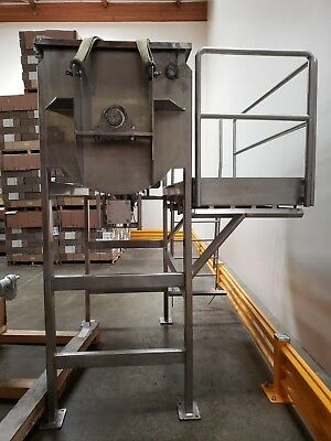 Ribbon Blender Heavy Duty 800Lb Center Discharge Catwalk All Ss Free Shipping*