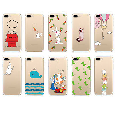 Cute Soft Rubber Case Cover TPU Slim Phone Case Cover For iPhone 6 6S 7 8 Plus