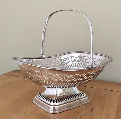 Superb Antique Silver Plated Footed Bread/ Cake Basket By J & R GRIFFIN C1900