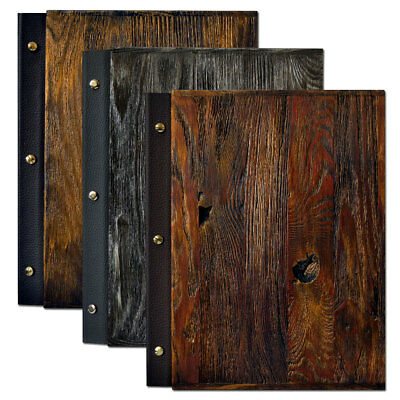 Menu Wooden COVER Holder RESTAURANT PUB Sign Bar Catering Luxury meal list A4