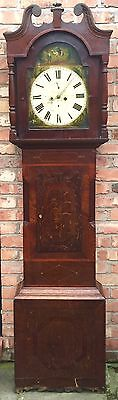 Oak & Mahogany 8 Day Inlaid And Cross Banded Longcase Grandfather Clock