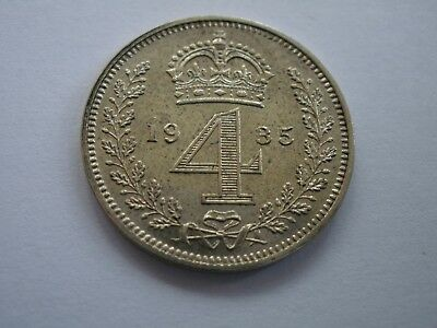1935 George V Maundy Fourpence - Uncirculated - Uk Post Free