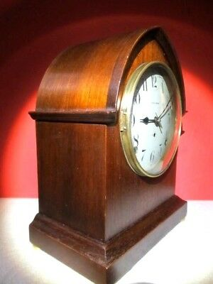Antique Gothic Seth Thomas 8 Day Time & Strike Mahogany Cathedral Mantle Clock,