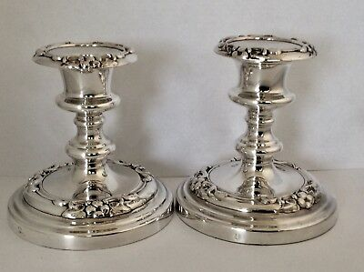 Rare Mid 19th Century Old Sheffield Plate Candlesticks SMITH SISSONS & Co C1848
