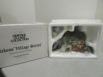 Department 56 -58304- Retired-  Heritage Village - Crooked Fence Cottage - Boxed