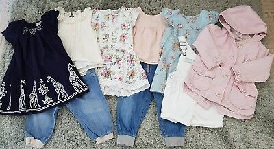 Next Baby Girls Summer Dress Jacket Jeans Tops Age 12-18 Months