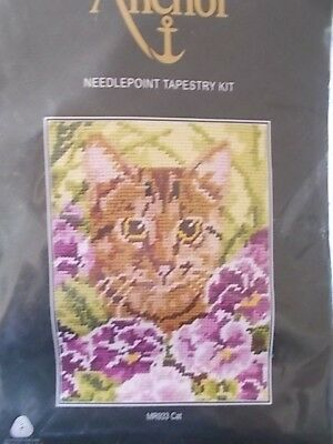 """Tapestry Needlepoint Kit """" Cat """" New by Anchor 7""""x 5.5 """""""