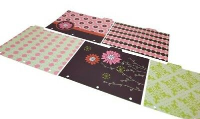 TWO PACKS Wilson Jones Recycled Bliss Dividers, 5-Tab, Assorted Designs W31504