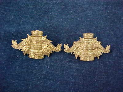 Orig Pre WW1 Pair Of Matching Collar Badges 89th Temiscouata & Rimouski Regt