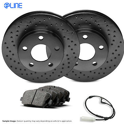 2 Cross-Drilled Disc Brake Rotors High-End Neon 5lug Front Rotors