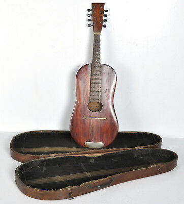 Antique 1932 Custom Hand-Made Rosewood Mandolin CW Perry w/ Wood Case