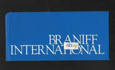 Braniff International Ticket Jacket Blue 1970's Unused