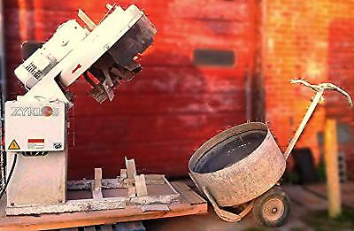 PEMAT ZYKLOS ZZ 150 HE ROTATING PAN CONCRETE INDUSTRIAL ART MIXER with TROLLEY