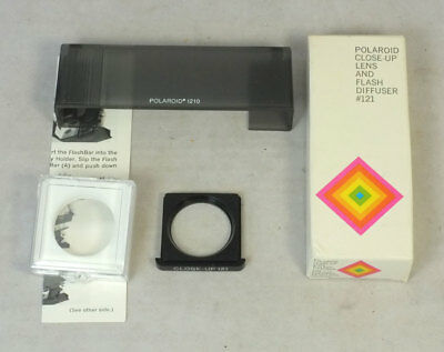 Polaroid SX-70 121 Camera Close-Up Lens and Flash Diffuser