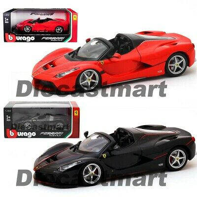 Ferrari Laferrari F70 Aperta 1:24 Diecast Model Car By Bburago 26022 Black Red