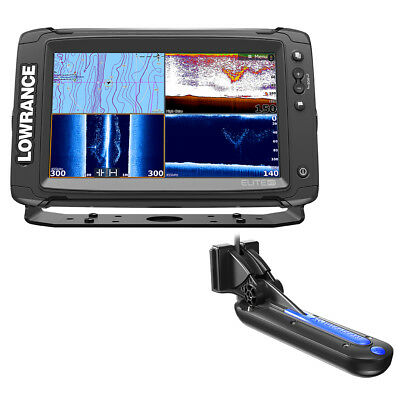 Lowrance Elite-9 Ti Chartplotter/fishfinder with Totalscan Transom Mount Tran...
