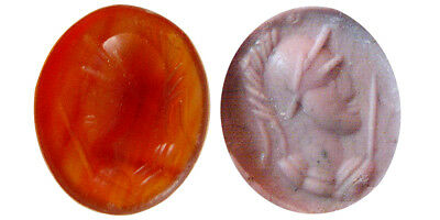 PCW-AN352-ROMAN EMPIRE. Ca. 2nd-3rd. Century AD. Agate Stamp Seal.