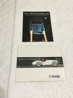 Triumph TR 3 And Triumph Herald 1960 Showroom Posters And Brochure