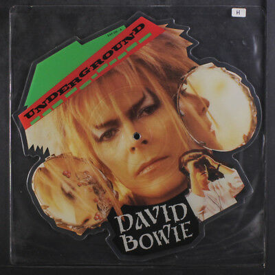 DAVID BOWIE: Underground / Underground (instro) 12 (UK, shaped pic disc, slight