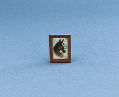 1:12 Scale Dollhouse Miniature Petite Framed Horse Picture #HC601