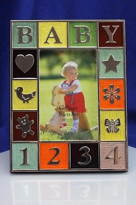 Godinger Silver Art Baby Picture/Photo Frame. New!