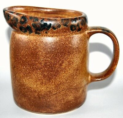 Vintage McCoy Mesa Canyon 1414 Pottery Creamer Brown USA  #P5