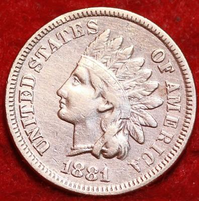 Uncirculated 1881 Red Philadelphia Mint Indian Head Cent