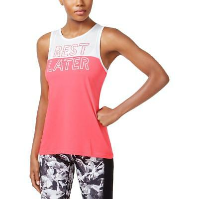 Ideology Womens Pink Yoga Fitness Colorblock Tank Top Athletic M BHFO 1854