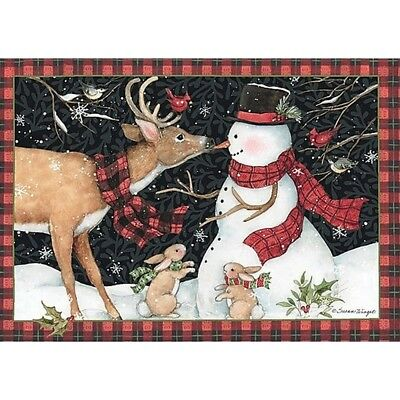 Reindeer Kisses 5 In X 3.5 In Petite Christmas Cards, Christmas Cards by Lang C