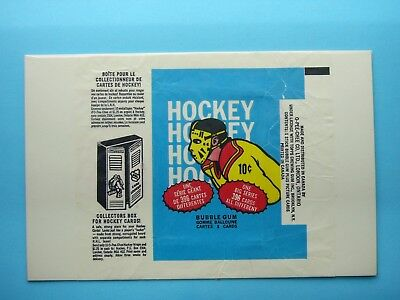 1974/75 O-Pee-Chee Hockey Card Wax Pack Wrapper Scotty Bowman Rookie L Sharp Opc