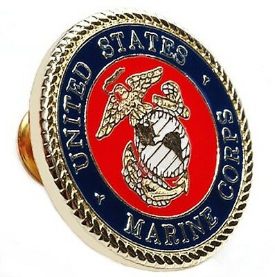 United States Marine Corps Lapel Pin Gold Plated Badge