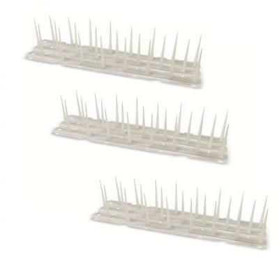 Pack of 3 Plastic Anti Bird Deterrent Wall Fence Spike