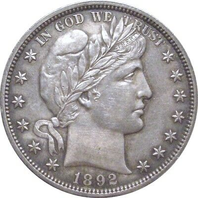 1892 Barber Half Dollar--Sharp AU++