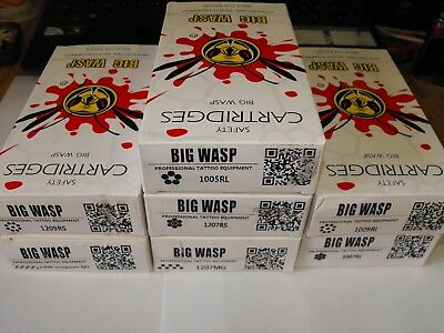 big wasp professional tattoo needle cartridges round liners round shaders & mags