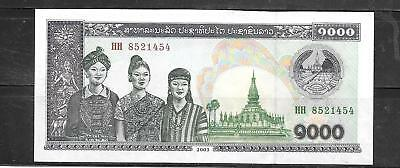 LAOS LAO #32Ab 2003 1000 KIP uncirculated BANKNOTE NOTE CURRENCY PAPER MONEY